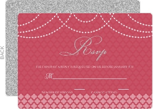 Elegant Royal Pattern Wedding Response Card