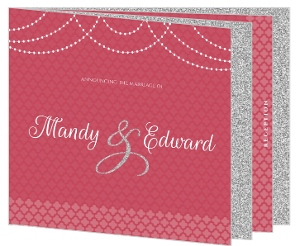 Elegant Royal Pattern Wedding Booklet Invitation