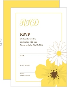 Classic Yellow Flower Wedding Response Card