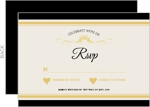 Elegant Wine Bottle Wedding Response Card