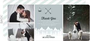 Scenic Winter Mountain Wedding Thank You Card