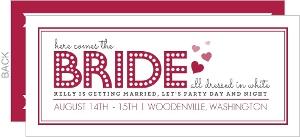 bridal shower timeline party invitation