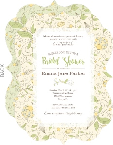 Beautiful Summer Floral Bridal Shower Invitation