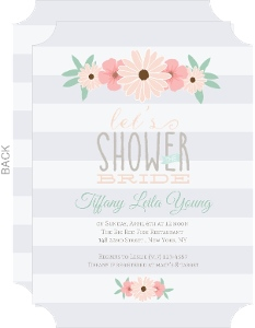 Pastel Color Flower Decor Bridal Shower Invitation