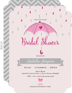 Little Pink Umbrella Bridal Shower Invitation