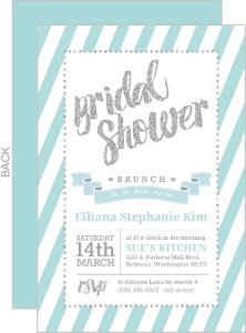 Fun Glitter Typography Bridal Shower Invitation Card