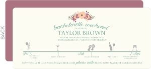 Winery Timeline Bachelorette Party Invitation