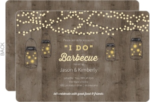 Mason Jar Party Lights Couples Shower Invitation