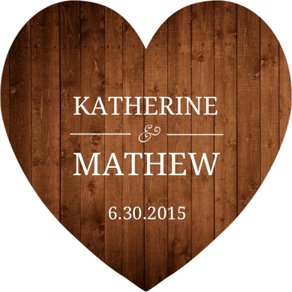 Simple Rustic Wood Heart Shaped Wedding Invite | Wedding Invitations