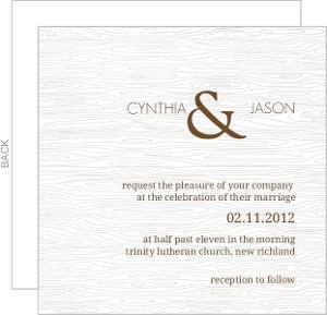 Brown Wood Texture Wedding Invitation