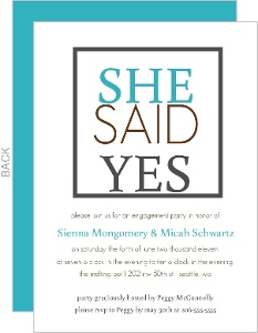 She Said Yes Engagement Party Invite
