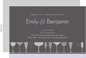 Sophisticated Gray Rehearsal Dinner Invitation Card