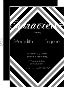 Modern Stripe Rehearsal Dinner Invite