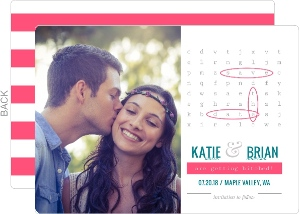 Whimsical Word Search Save The Date Announcement