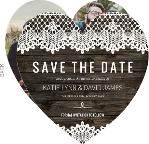 Country Lace Save The Date Announcement