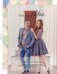 Bold Yes Engagement Party Invitation