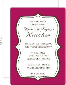 Bold And Beautiful Wedding Enclosure Card