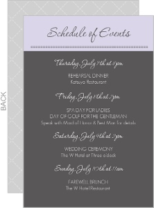 Sophisticated Gray Wedding Enclosure Card