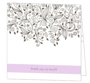 Elegant and Simple Thank You Card