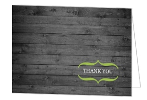 Modern Rustic Gray and White Tree Thank You Card
