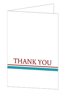 Whimsical Romance Thank You Card