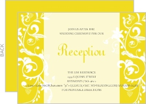 Bright Yellow with White Enclosure Card