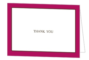 Bold and Beautiful Thank You Card