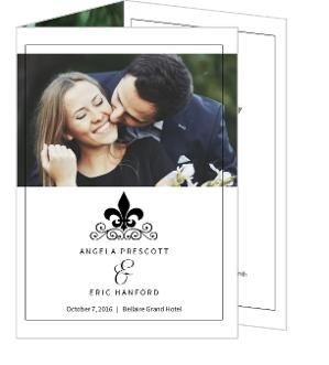 Black and White Fleur de Lis Wedding Program | Wedding Programs