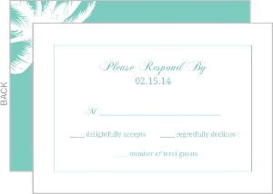 Seaside Blue and White Response Card