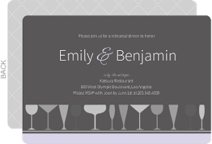 Sophisticated Gray Rehearsal Dinner Invitation