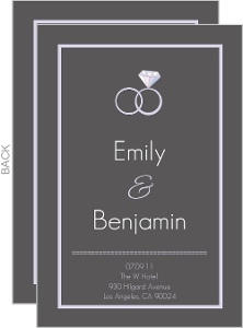 Sophisticated Gray Menu Card