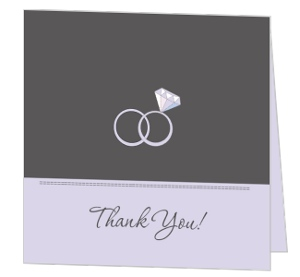 Sophisticated Gray Thank You Card