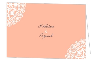 Old Fashion Style Pink with White Lace Save The Date