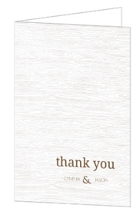 Brown Wood Texture Thank You Card