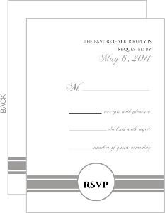 Classic White with Gray Response Card