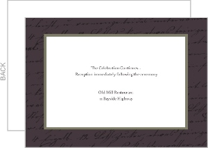 Plum and Sage Script Enclosure Card