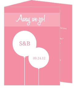 Pink and White Contemporary Wedding Invitation