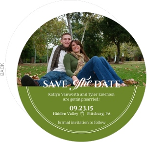 Rustic Green Fall Acorn Save The Date