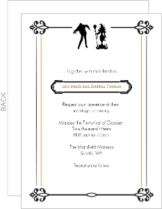Scary Couple Halloween Wedding Invitation