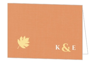 Multi Colored Fall Leaves Wedding Thank You Card