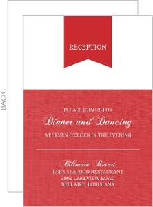 Red Modern Banner Enclosure Card
