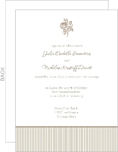 Brown and White Antique Wedding Invite