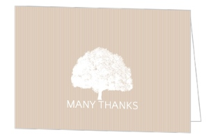 Dusty Rose and White Grand Tree Thank You Card