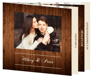 Wooden Picture Perfect Love Booklet Wedding Invitation