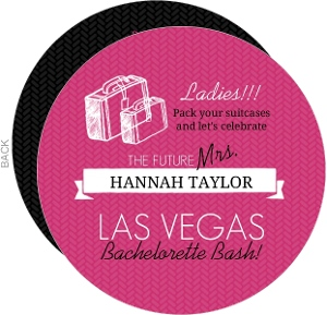 Pink and Black Destination Bachelorette Party Invitation