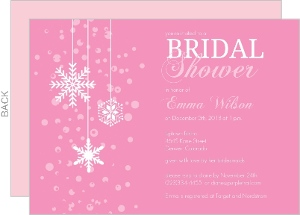 Bridal shower invitations bridal shower invites blushing bride pink winter bridal shower invitation filmwisefo Choice Image