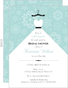 snowflake bridal shower invitation
