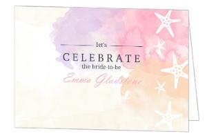 Bridal shower invitations bridal shower invites weddingpaperie beach watercolors bridal shower invitation filmwisefo