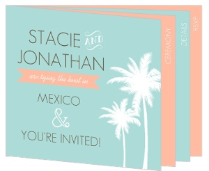 Beach Wedding Photo Booklet Invitation
