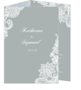 White Lace Wedding Save the Date